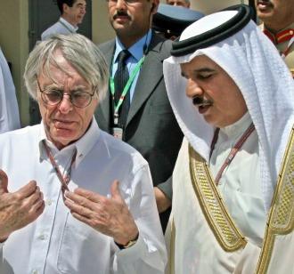 Ecclestone, junto al príncipe heredero de Bahréin el príncipe heredero de Bahréin