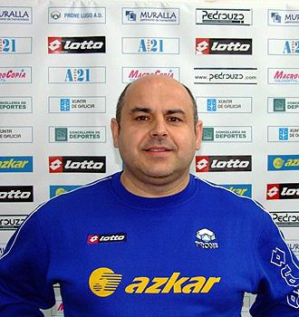 Pablo Prieto, en su etapa como entrenador en Lugo.