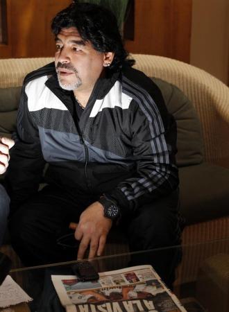 Maradona, en un momento de la entrevista.