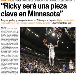 La información de Love sobre Ricky, en tu diario MARCA de hoy