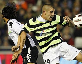 Sergio Rodr�guez, en un partido contra el Valencia
