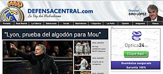Pese a haber presentado su dimisi�n a �ltima hora del martes, a las 13.20 horas de este mi�rcoles en el sitio web defensacentral.com segu�a apareciendo Siro L�pez como director de la publicaci�n.