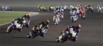 Pilotos de Moto2 en el GP de Qatar.