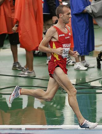 Sergio S�nchez, durante los pasados Campeonatos de Europa celebrados en Barcelona.