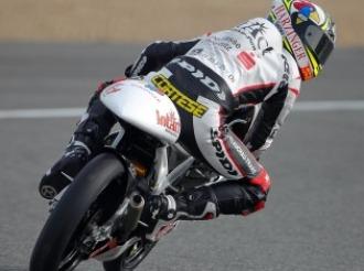 Sandro Cortese, a los mandos en Jerez