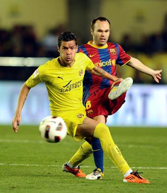 Catalá en el partido contra el Barcelona