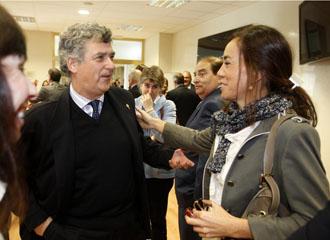 Villar, durante un evento
