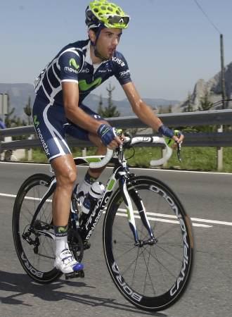 Be�at Intxausti durante el transcurso de la Vuelta al Pa�s Vasco.