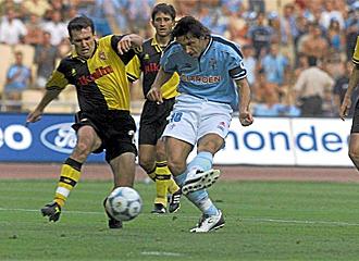 Gurenko durante la final de Copa que disput� con el Zaragoza ante el Celta.