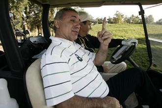 El ex jugador b�lgaro Hristo Stoichkov en un campo de golf
