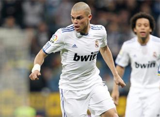 Pepe, en el partido ante el Bar�a.