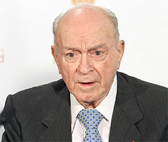 Di Stéfano, presidente de honor del Real Madrid.