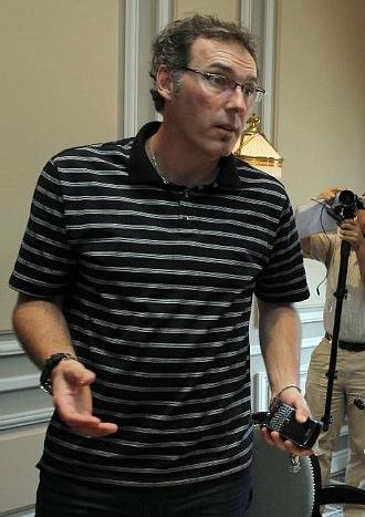 Laurent Blanc, en una rueda de prensa como seleccionador de Francia.