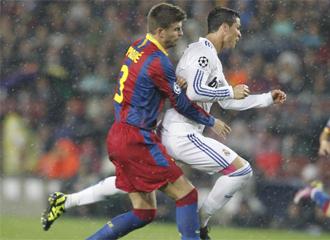 Piqué y Cristiano Ronaldo.