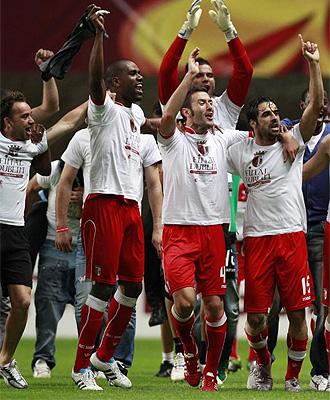 Los jugadores del Braga celebran el pase a la final