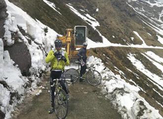 Imagen del Col de Crostis que previsiblemente se subir� en la 14 etapa