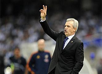 Aguirre durante el partido ante la Real Sociedad.