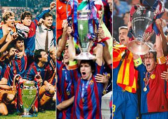 Las tres Champions del Bar�a