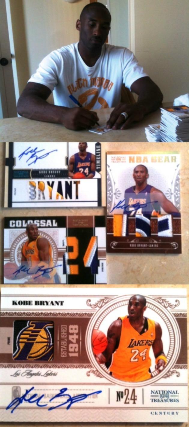 Kobe Bryant se tira dos días firmando cromos - MARCA.com 0e30a72f6