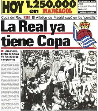 Real Sociedad Copa del Rey 1987