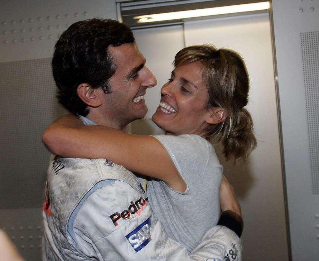 Family photo of the driver, married to Maria de la Rosa, famous for Sauber F1 Team & Scuderia Ferrari.