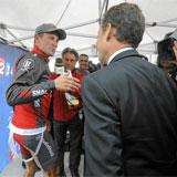 Armstrong y Sarkozy