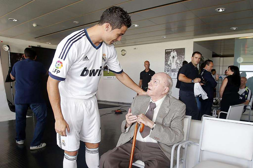 Image result for Di Stefano with ronaldo
