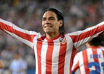Radamel Falcao en un partido en el Vicente Calderón./ Diego G. Souto (Marca)