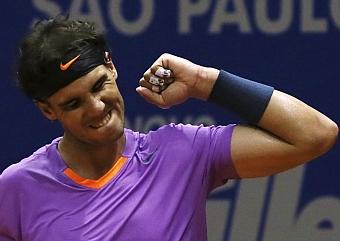 Rafa Nadal en la final del torneo de Sau Paulo./ Paulo Whitaker (Marca)