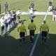Los jugadores del Mestalla y Levante B le hicieron el pasillo al árbitro