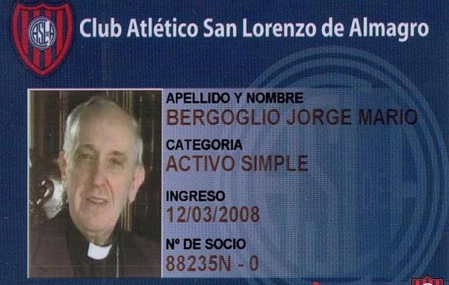 San Lorenzo de Almagro, orgulloso de que el Papa sea socio del club