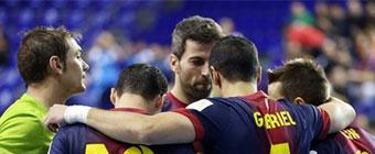 La dupla Lozano-Torras sitúa al Barça con un pie en la final