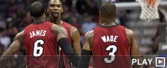 LeBron, Wade y Bosh