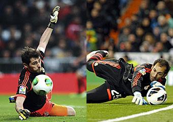 Iker Casillas y Diego López