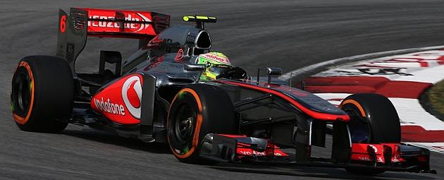 Checo P�rez, rodando en Sepang con el McLaren / RV RACING PRESS