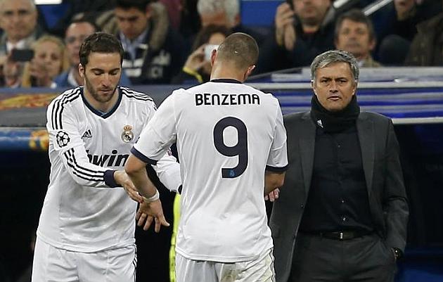 Mourinho pica a Higua�n y Benzema