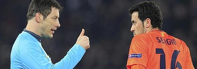 Busquets: Hasta que no han marcado el empate, el �rbitro no se ha quedado a gusto
