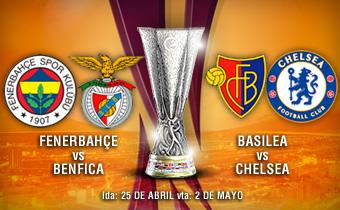 Fenerbahce-Benfica y Basilea-Chelsea