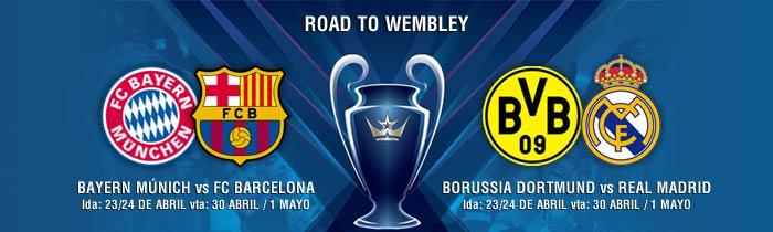 Bayern-Barça y Dortmund-Madrid, las semifinales de la Champions
