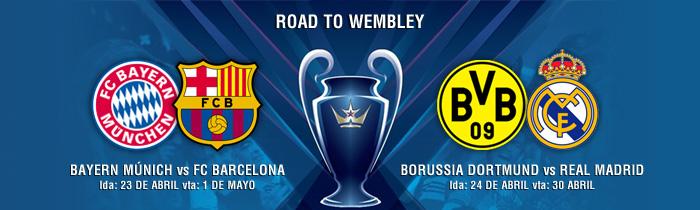 Bayern-Barça y Dortmund-Madrid, las semifinales