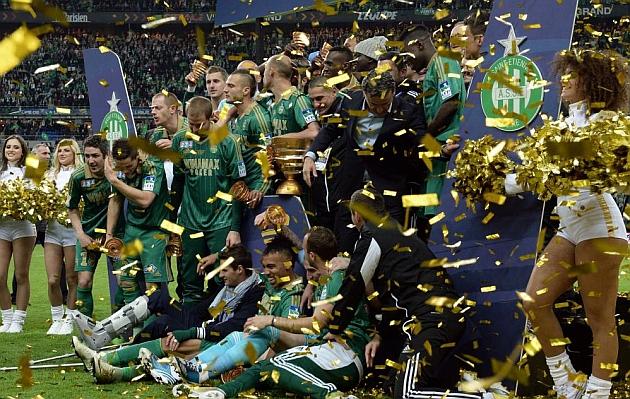 Un gol del brasileño Brandao hace campeón al Saint-Etienne