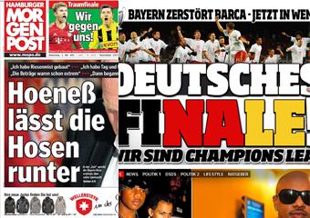 La prensa alemana celebra la primera final germana de la historia