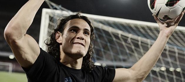 Cavani, 101 goles en 135 partidos