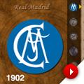 Real Madrid y Atlético de Madrid a través de sus escudos