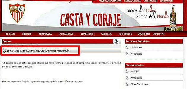 El Sevilla presenta una denuncia por el pirateo a su web