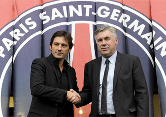 Leonardo y Ancelotti