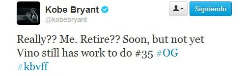 Kobe Bryant desmiente su adi�s: �Retirarme? Pronto, pero no todav�a