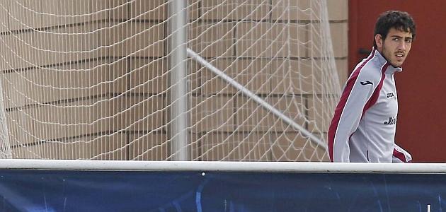 Parejo, en un entrenamiento del Valencia / JOSÉ ANTONIO SANZ (MARCA)