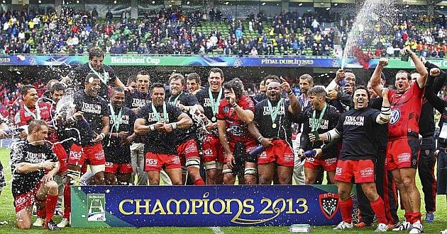 Tras conquistar la Copa de Europa en Dublin, Toulon busca ahora la final del Top 14 / REUTERS