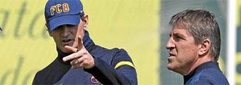 Vilanova dirige el entrenamiento tras regresar de Nueva York